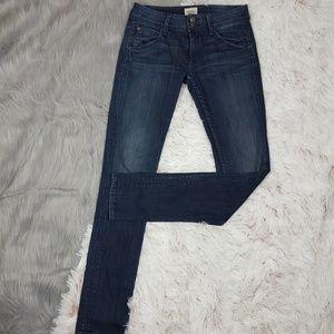 HUDSON Nico Skinny Dark Wash Flap Pocket Jeans
